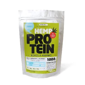 Zelená Země Konopný protein kokos s ananasem 1kg