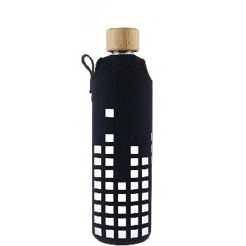 Drink it Sklenená fľaša s neoprénovým obalom Equalizer 350ml