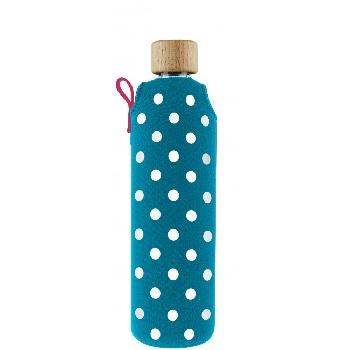 Drink it Sklenená fľaša s neoprénovým obalom Lentilka 350ml