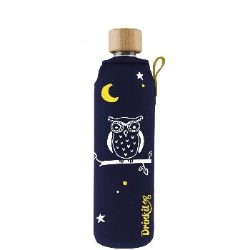 Drink it Sklenená fľaša s neoprénovým obalom Sova 350ml