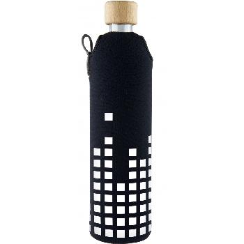 Drink it Sklenená fľaša s neoprénovým obalom Equalizer 500ml