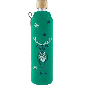 Drink it Sklenená fľaša s neoprénovým obalom Jelen 500ml