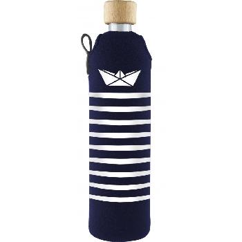 Drink it Sklenená fľaša s neoprénovým obalom Námorník 500ml