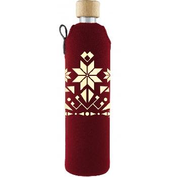Drink it Sklenená fľaša s neoprénovým obalom Norek 500ml