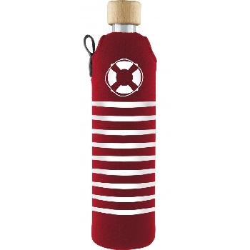 Drink it Sklenená fľaša s neoprénovým obalom Rozmarné léto 500ml