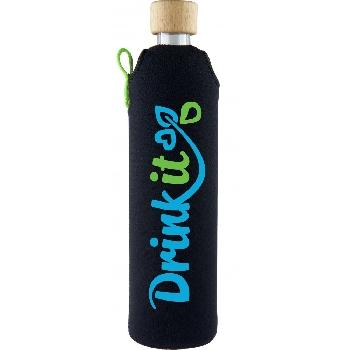 Drink it Sklenená fľaša s neoprénovým obalom Sportit 500ml