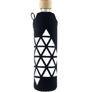 Drink it Sklenená fľaša s neoprénovým obalom Triangel 500ml