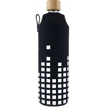 Drink it Sklenená fľaša s neoprénovým obalom Equalizer 700ml