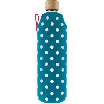 Drink it Sklenená fľaša s neoprénovým obalom Lentilka 700ml