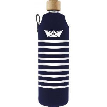 Drink it Sklenená fľaša s neoprénovým obalom Námorník 700ml
