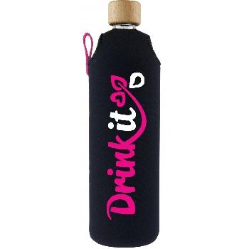 Drink it Skleněná láhev s neoprénovým obalem Neonka 700ml