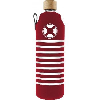 Drink it Skleněná láhev s neoprénovým obalem Rozmarné léto 700ml