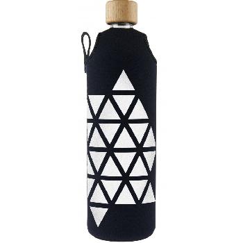 Drink it Sklenená fľaša s neoprénovým obalom Trianglel 700ml