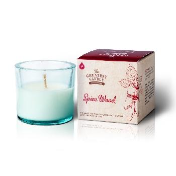 The Greatest Candle Vonná svíčka ve skle dřevo a koření 75g