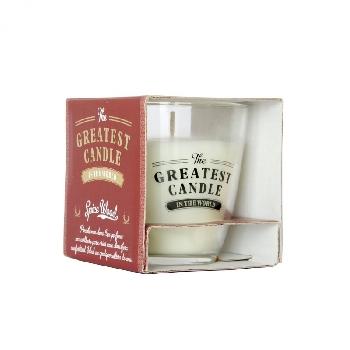 The Greatest Candle Vonná sviečka v skle drevo a korenie 130g