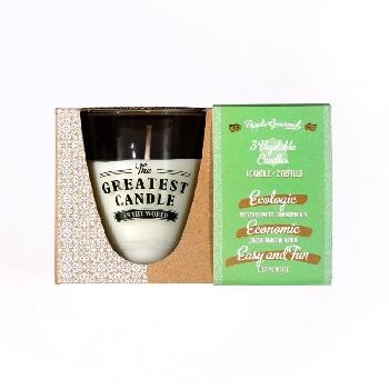 The Greatest Candle sada 1x svíčka 130 g a 2x náplň jablko