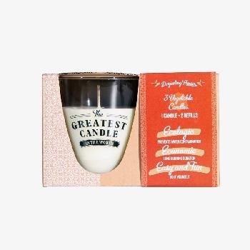 The Greatest Candle sada 1x svíčka 130 g a 2x náplň květ darjeelingu
