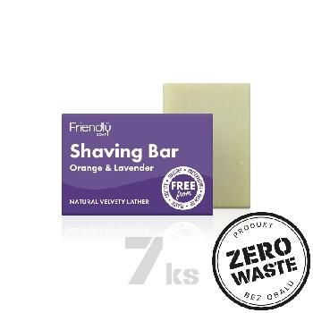 Friendly Soap přírodní mýdlo na holení pomeranč a levandule 7ks zero waste balení