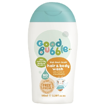 Good Bubble Detská umývacia emulzia a šampón Ostružina morušková 100ml