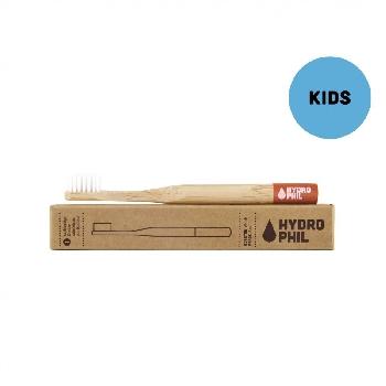 Bambusová kefka pre deti soft červený