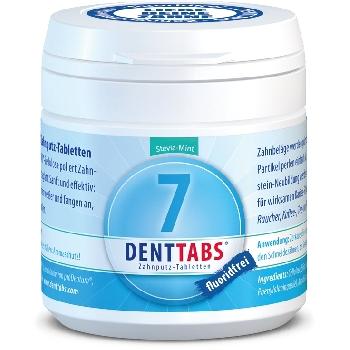 DENTTABS přírodní zubní pasta v tabletách bez fluoridu 125 ks dóza