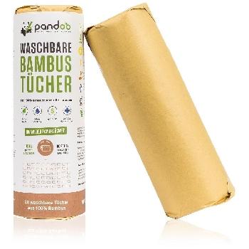 Pandoo Opakovaně použitelné kuchyňské bambusové utěrky