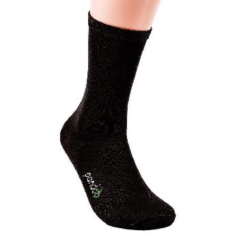 Pandoo Business vysoké bambusové ponožky 6 párů černé velikost 39 až 42