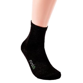 Pandoo Klasické bambusové ponožky 6 párov čierne veľkosť 43 až 46