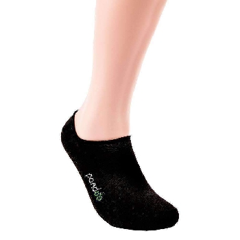 Pandoo Invisible nízke bambusové ponožky 6 párov čierne veľkosť 35 až 38