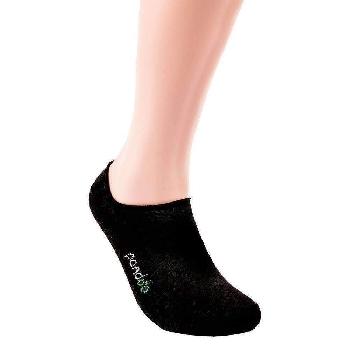 Pandoo Invisible nízke bambusové ponožky 6 párov čierne veľkosť 39 až 42