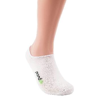 Pandoo Invisible nízke bambusové ponožky 6 párov biele veľkosť 35 až 38