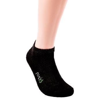 Pandoo Sneaker nízké bambusové ponožky 6 párů černé velikost 35 až 38
