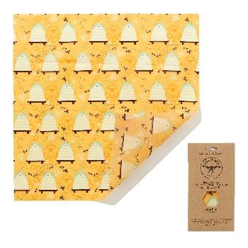 The Beeswax Wrap Opakovaně použitelný obal s včelím voskem na chleba Bee Hive 1 ks