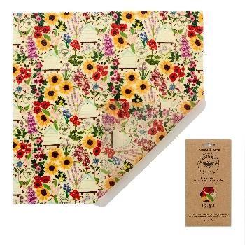 The Beeswax Wrap Opakovaně použitelný obal s včelím voskem na chleba Floral 1ks