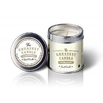 The Greatest Candle Vonná svíčka v plechovce sladká vanilka 200g