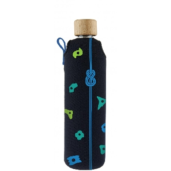 Drink it Sklenená fľaša s neoprénovým obalom Horolezec 350ml