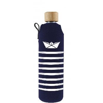 Drink it Sklenená fľaša s neoprénovým obalom Námorník 350ml