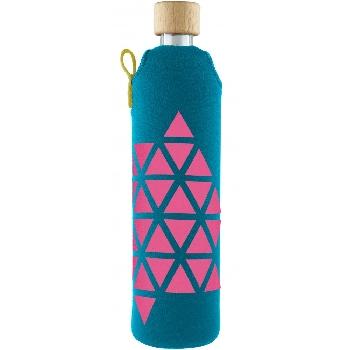 Drink it Sklenená fľaša s neoprénovým obalom Polygonka  500ml