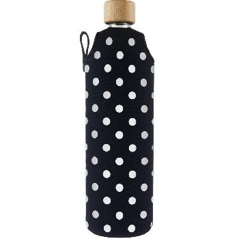 Drink it Sklenená fľaša s neoprénovým obalom Puntík 700ml