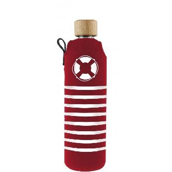 Drink it Sklenená fľaša s neoprénovým obalom Rozmarné léto 350ml
