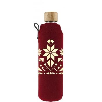 Drink it Sklenená fľaša s neoprénovým obalom Norek 350ml