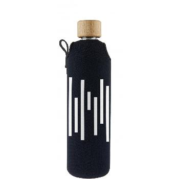Drink it Sklenená fľaša s neoprénovým obalom Barcode 350ml