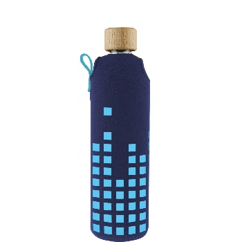 Drink it Sklenená fľaša s neoprénovým obalom Dešťovka 350ml