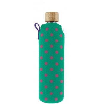 Drink it Sklenená fľaša s neoprénovým obalom Bublinka 350ml