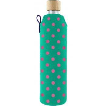 Drink it Sklenená fľaša s neoprénovým obalom Bublinka 500ml
