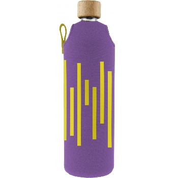 Drink it Sklenená fľaša s neoprénovým obalom Xylofonka 700ml