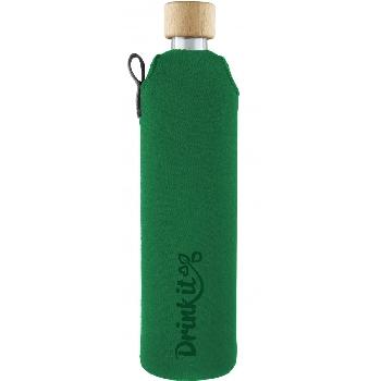 Drink it Sklenená fľaša s neoprénovým obalom Asketa Zelenej 500ml