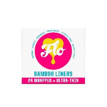 FLO Ultra tenké slipové vložky z bio bambusu 24 ks