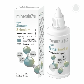 Minerals70 Liquid Zincum Selenium Koncentrát s vysokým obsahom zinku a selénu 50 ml