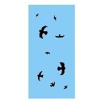 Ptačí siluety na sklo černé 9 ks